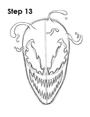 300x388 Spiderman Head Drawing