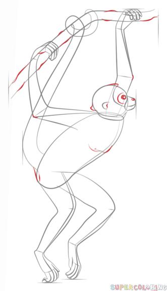 331x575 How To Draw A Spider Monkey Draw Tutorials