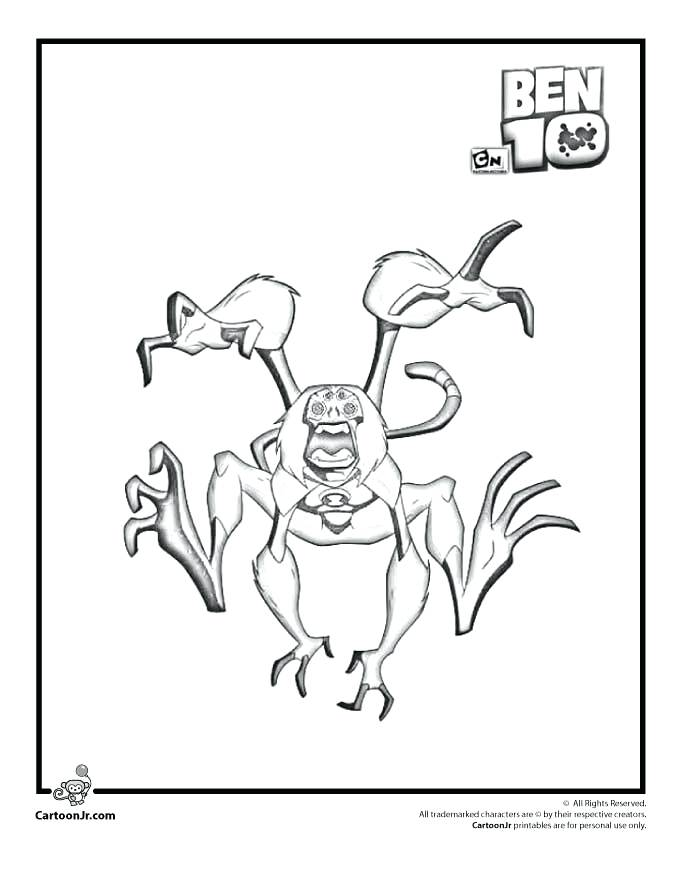 680x880 Great Ben 10 Coloring Pages Image Cartoon Monkeys Kids 3 Spider