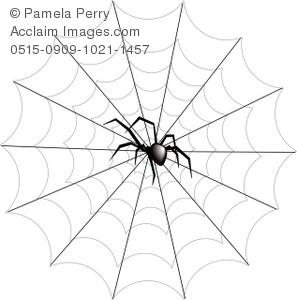 297x300 Black Widow Clipart Spider Web