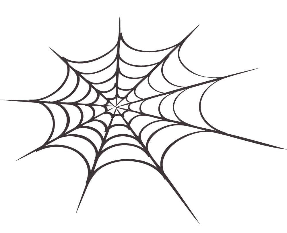 1000x810 Spider On Web Clipart