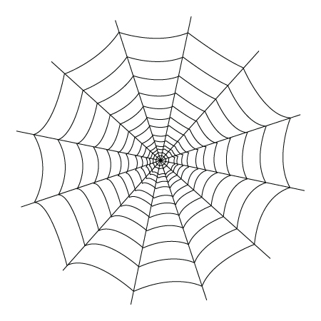 450x450 Drawing Of A Spider Web To Color