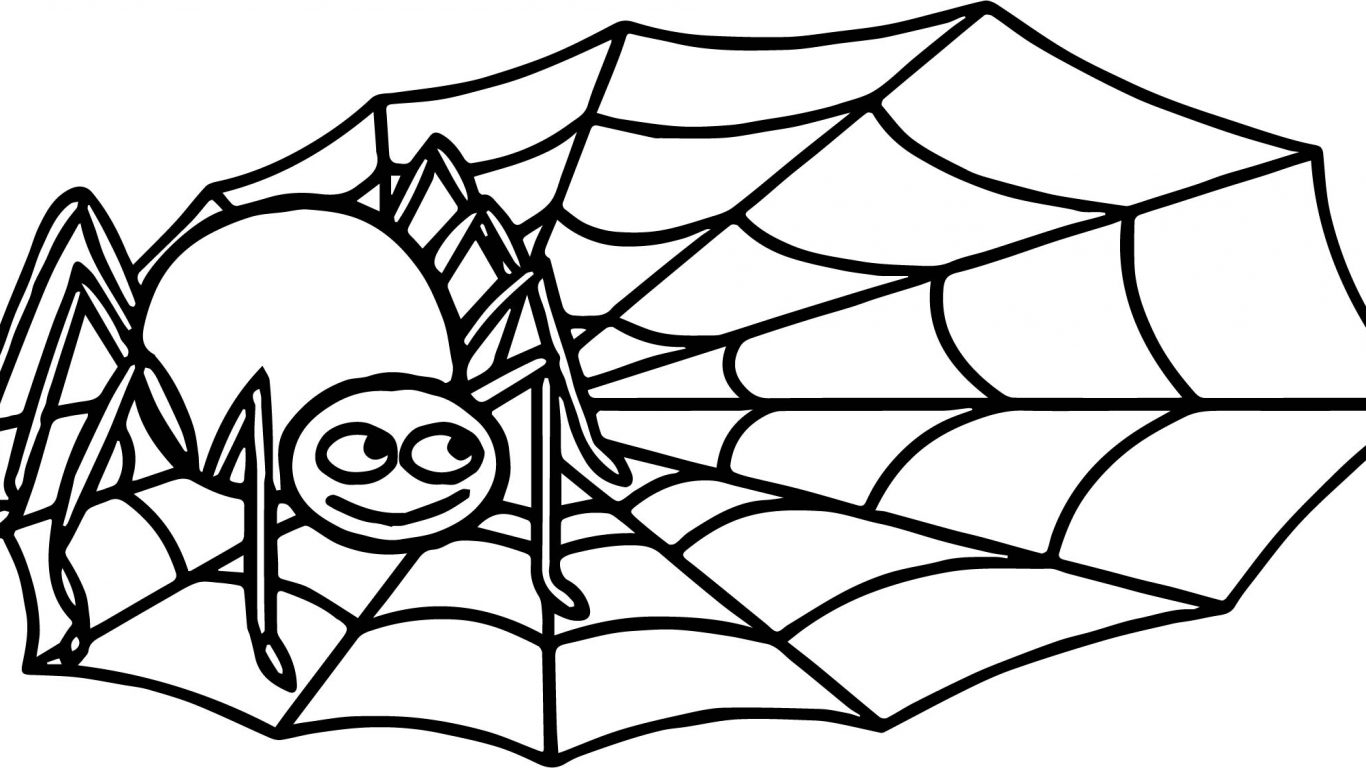 1366x768 Incy Wincy Spider Coloring Page Free Printable Animals Pages