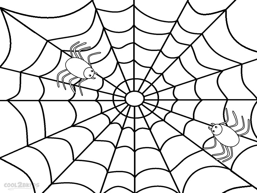850x641 Printable Spider Web Coloring Pages For Kids Cool2bkids