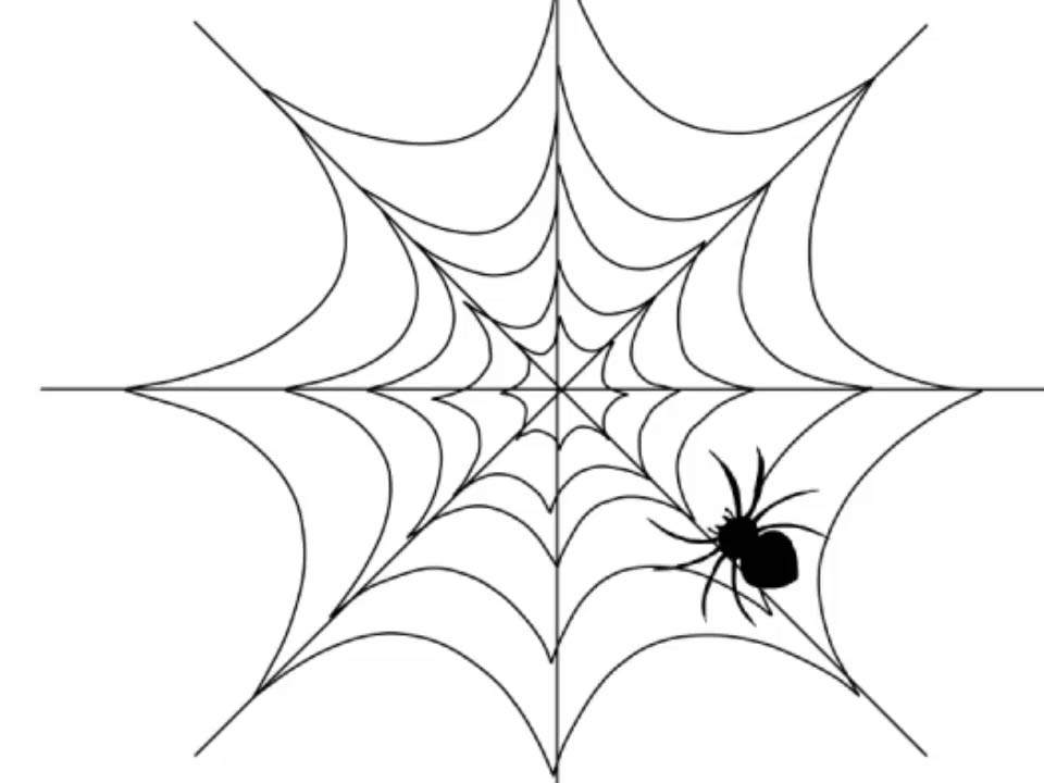 960x720 Simple Spider Web Drawing