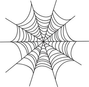 300x296 Spider Web Cartoon Clipart