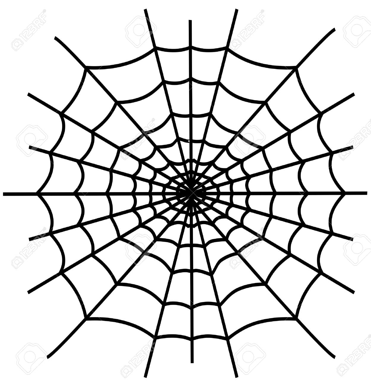 1250x1300 Spider Web Cartoon Drawing Black Spiderweb Isolated On White