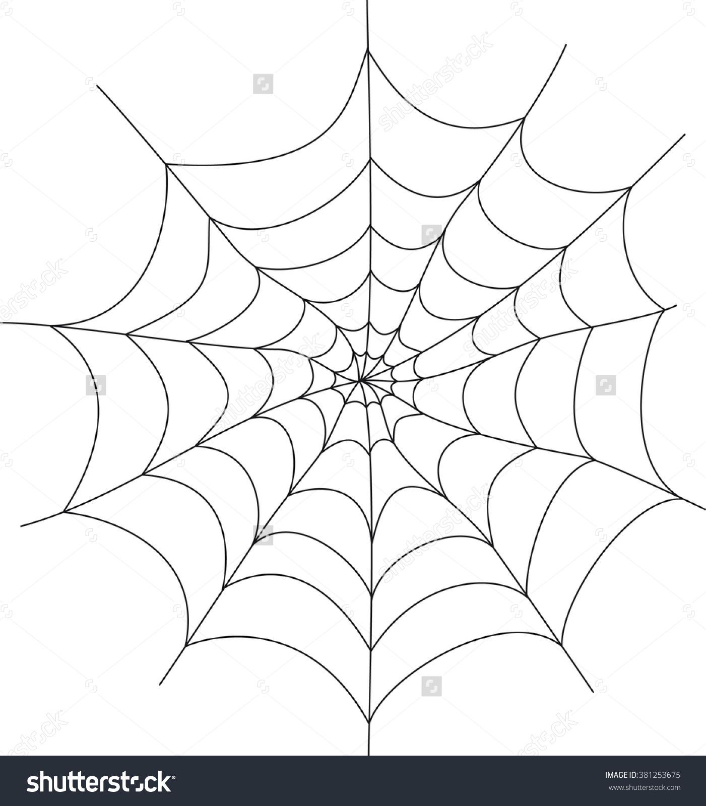 1401x1600 Spider Web Cartoon Drawing Isolated Spiderweb Trap Vector Cartoon