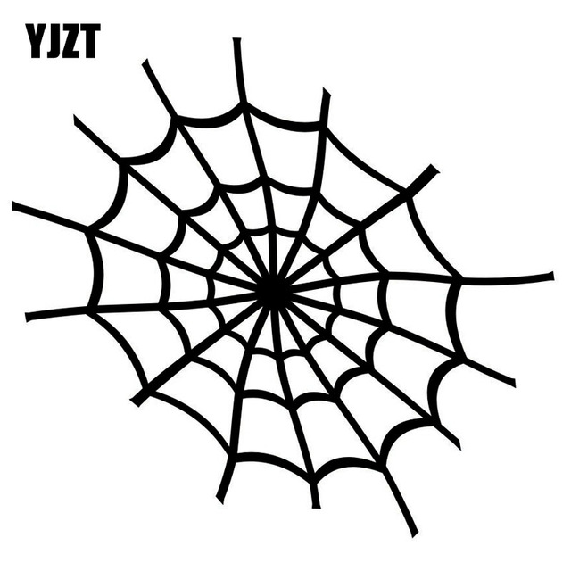 640x640 Yjzt 1412.9cm Cartoon Personality Spider Web Vinyl Decal Black