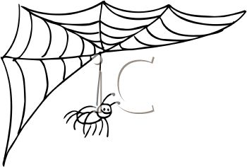 350x236 Cartoon Spider Web Clipart