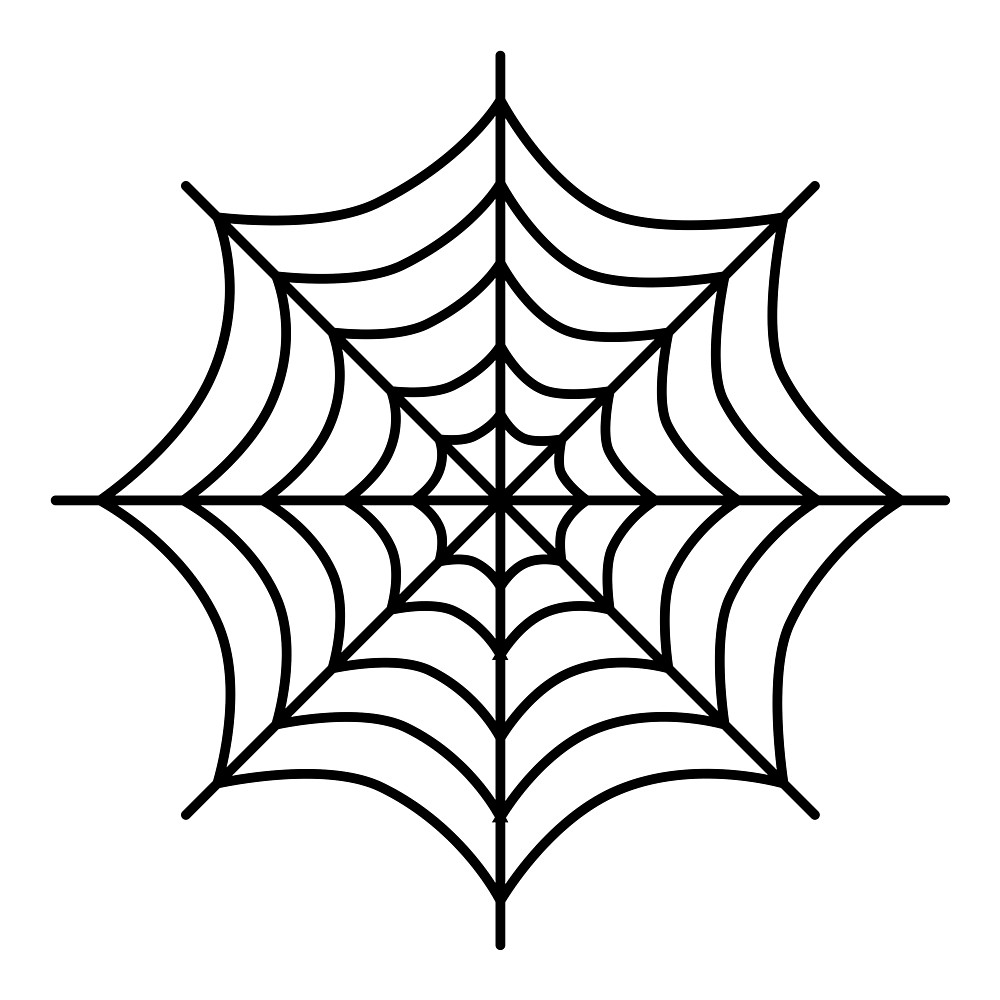 1000x1000 Cartoon Spiderweb By Lucid Reality Redbubble