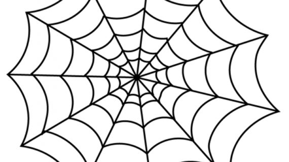570x320 How To Draw A Spider Web Easy Tutorial How To Draw A Spider39s Web