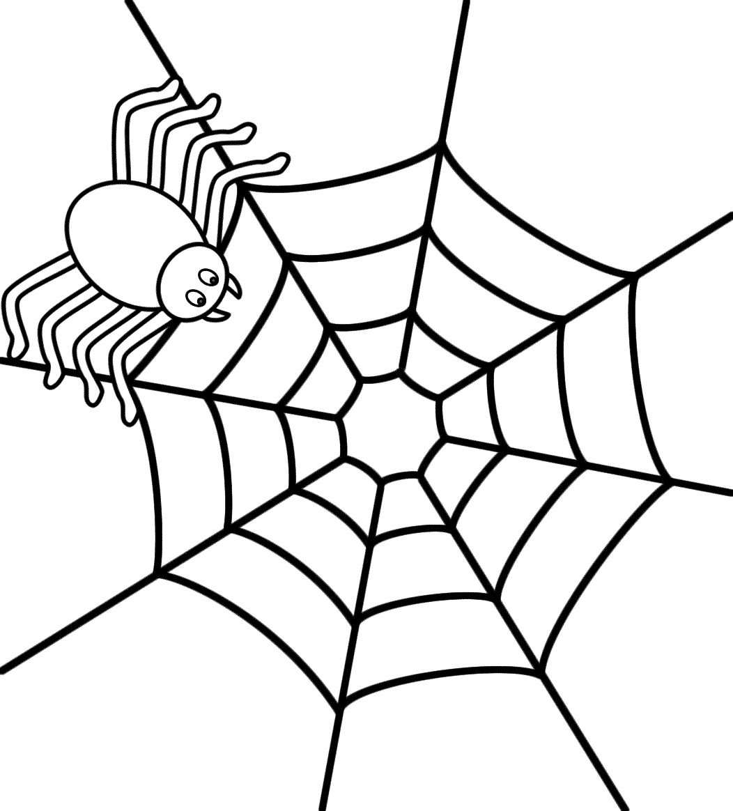 1052x1164 spider web coloring page with pages general free printable - Pictures Of Spiders To Colour In
