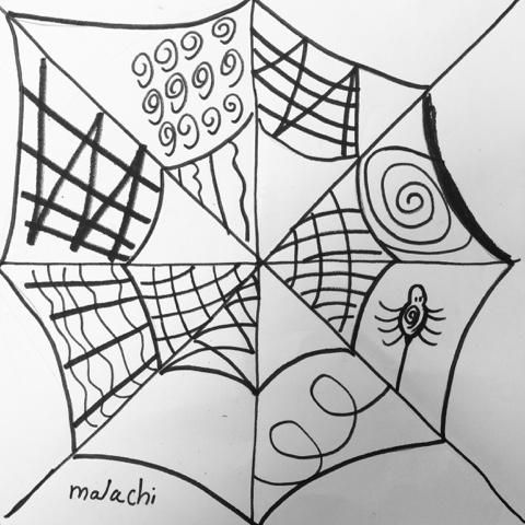 480x480 The Lost Sock Zentangles Spiderweb