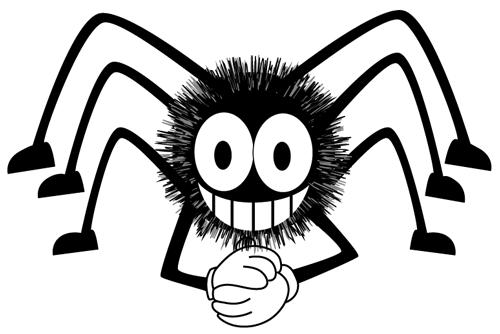 500x334 Cartoon Spiders Group