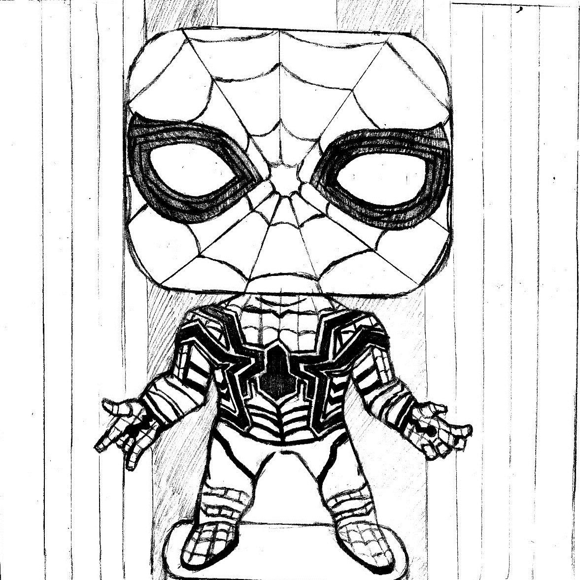 Spiderman Black Suit Drawing at GetDrawings Free for