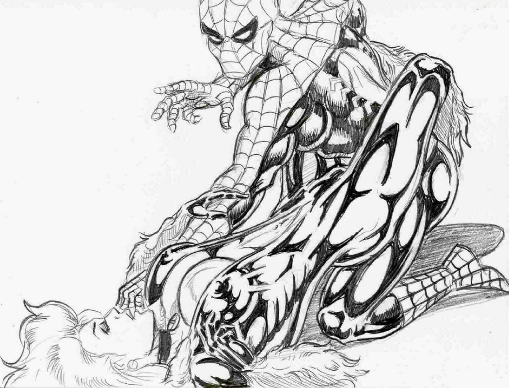 1050x800 Drawn Spider Man