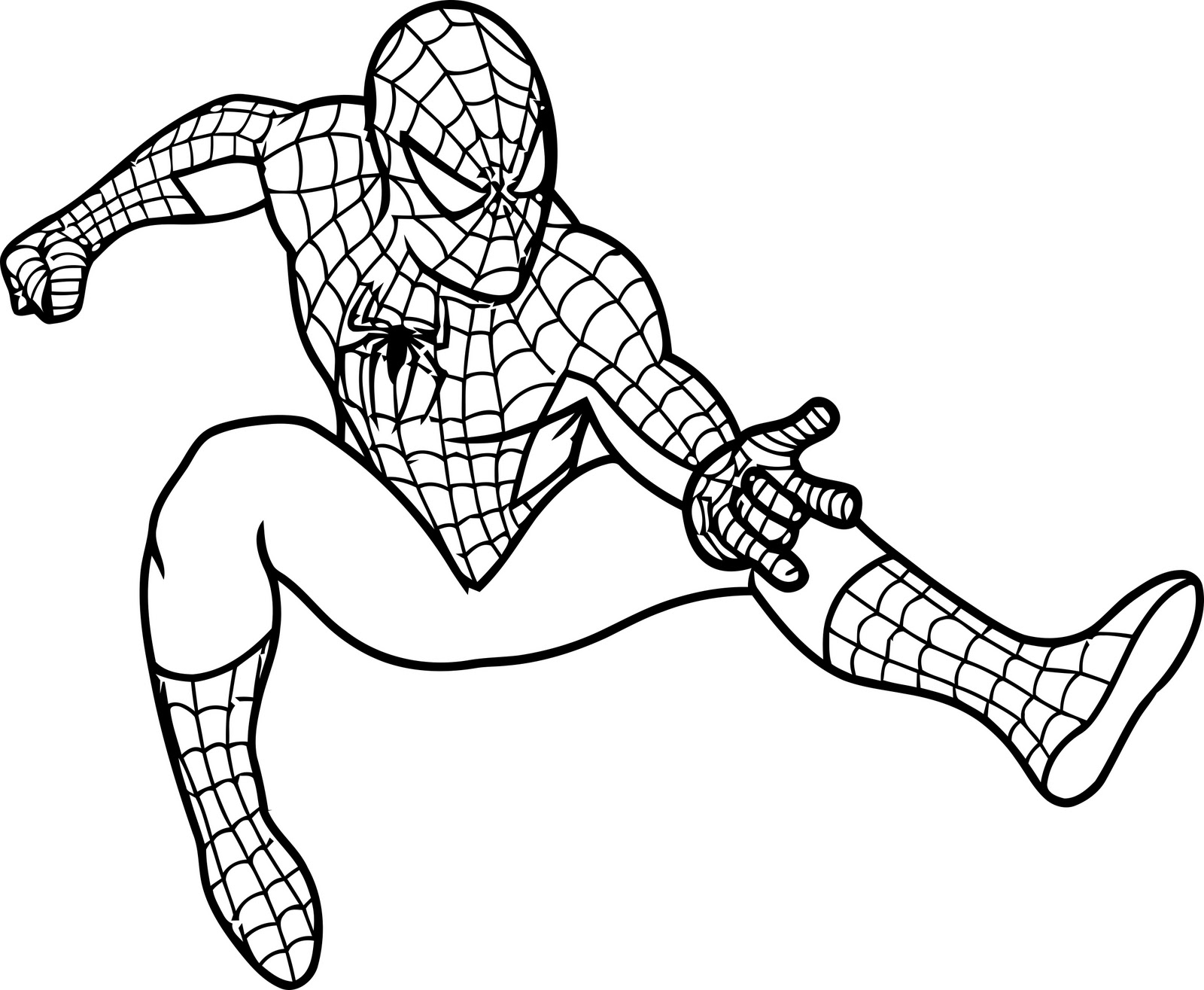 1600x1315 Drawn Spider Man Body