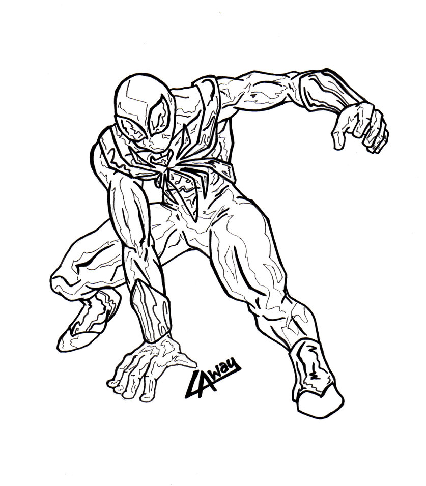 837x955 Iron Spiderman Inked By Angelcrusher