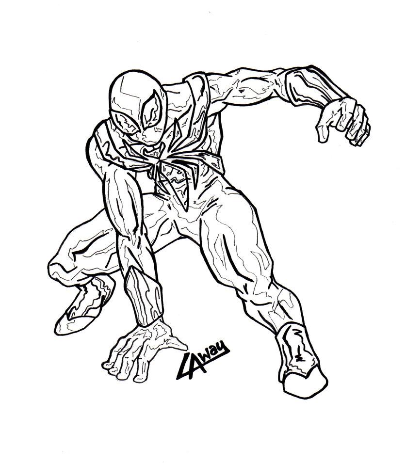 spiderman black suit drawing at getdrawings  free download