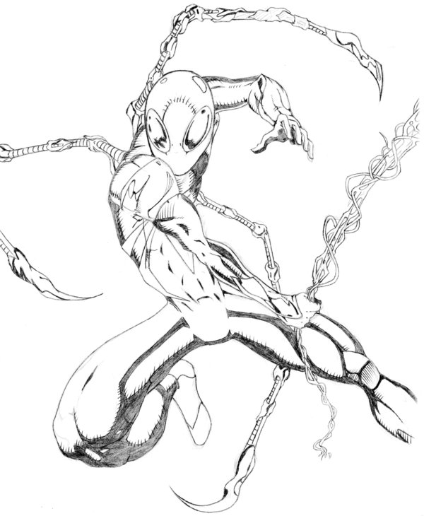 600x730 Iron Spiderman By Dsarte