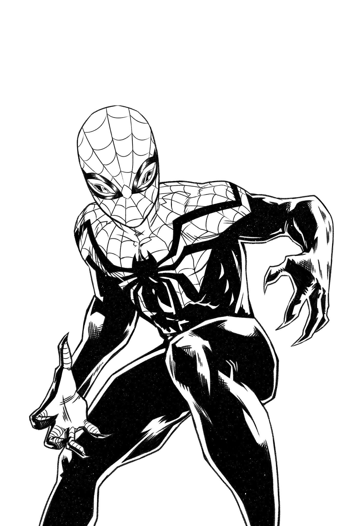 Spiderman Black Suit Drawing at GetDrawings.com | Free for ...