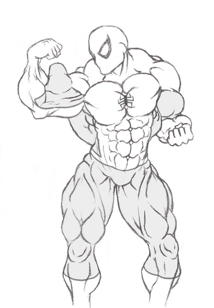 745x1072 Spider Man Got Buff. By Graphic Muscle
