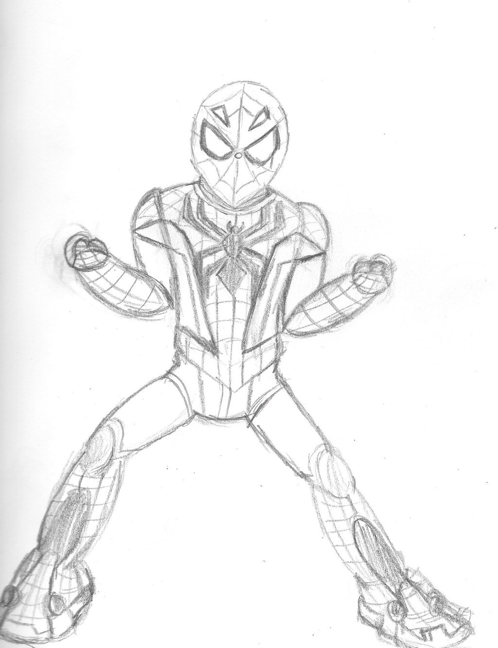 1024x1333 Spider Man Tech Armored Suit By Ryan91studio