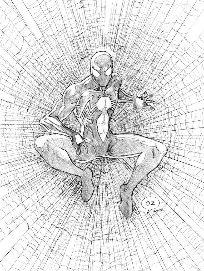 775x1031 Spiderman (Black Suit) Sketch By Ozartwork