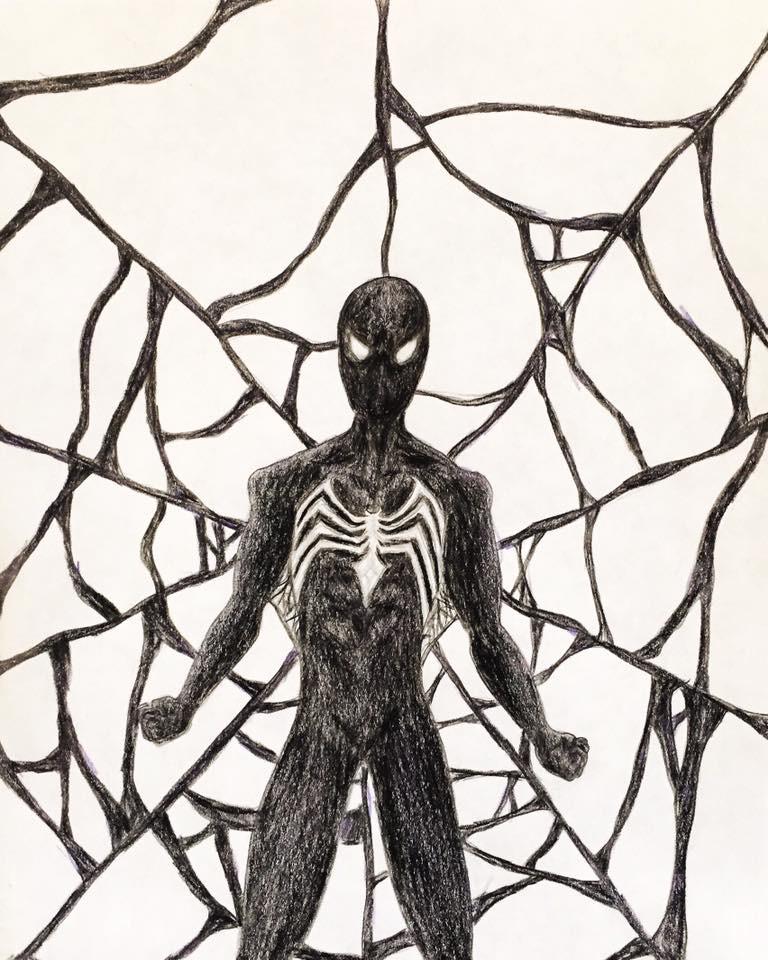 768x960 Symbiote Black Suit Spider Man By Kongzilla2010