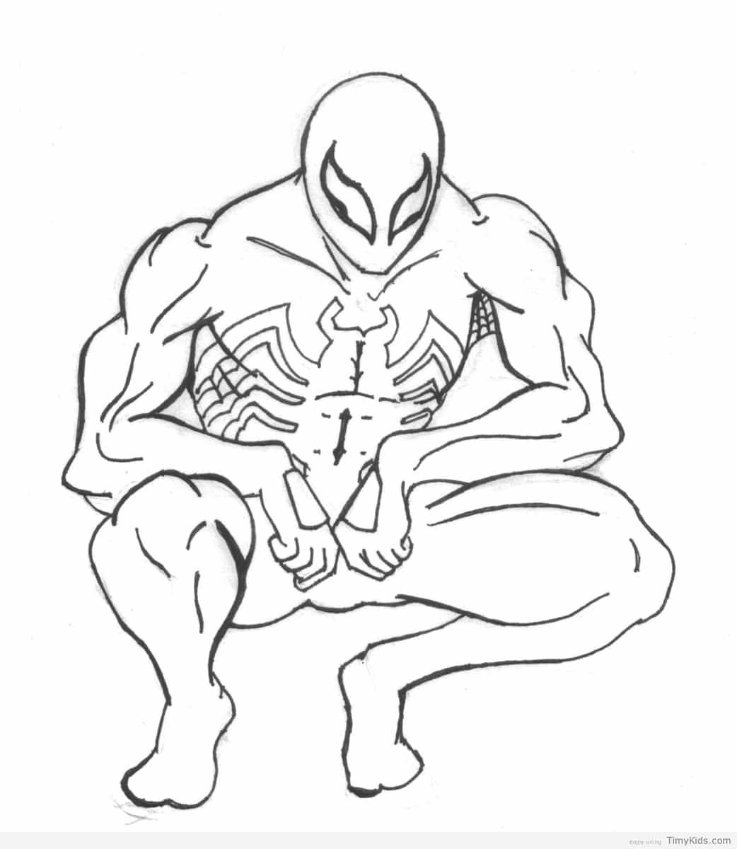 1042x1200 Black Suit Spiderman Coloring Pages Timykids