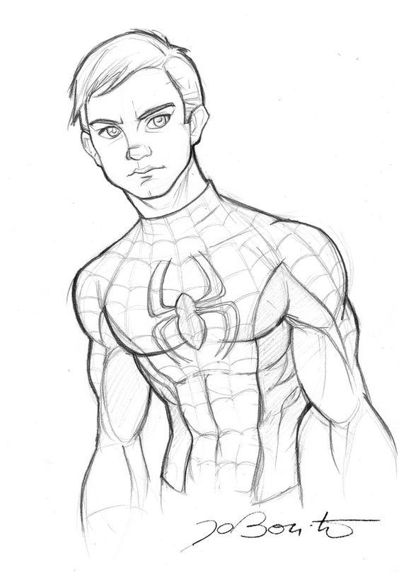 564x809 Civil War Spiderman Costume Drawing