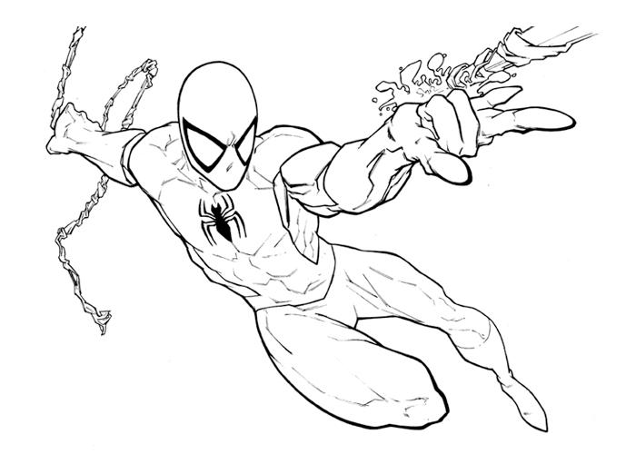 700x500 Black Suit Spiderman Coloring Pages Anti Venom Coloring Pages