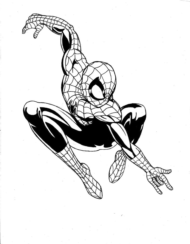 789x1011 Coloring Pages Of Ultimate Spider Man Black Suit Spiderman