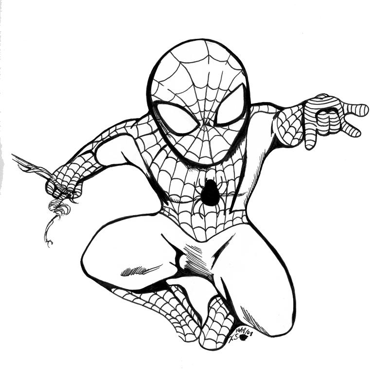 Spiderman Cartoon Drawing at GetDrawings   Free download