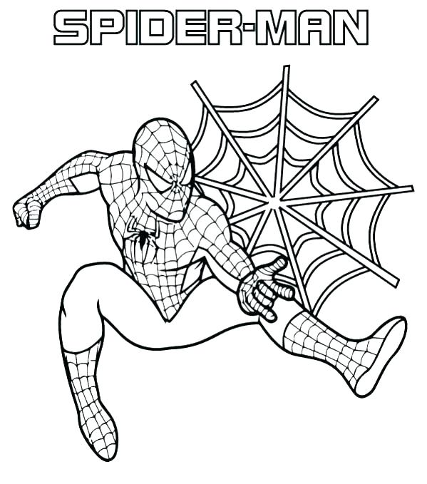spiderman coloring pages easy abstract - photo#10