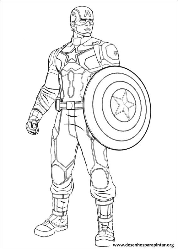 567x794 Coloring Pages For Kids Free Images Captain America Civil War And