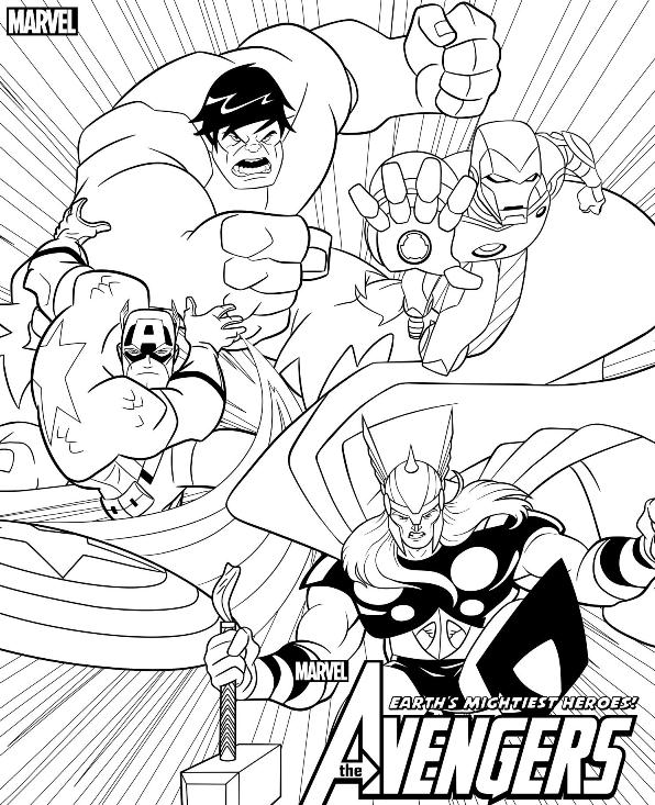 596x733 Kids N 18 Coloring Pages Of Avengers