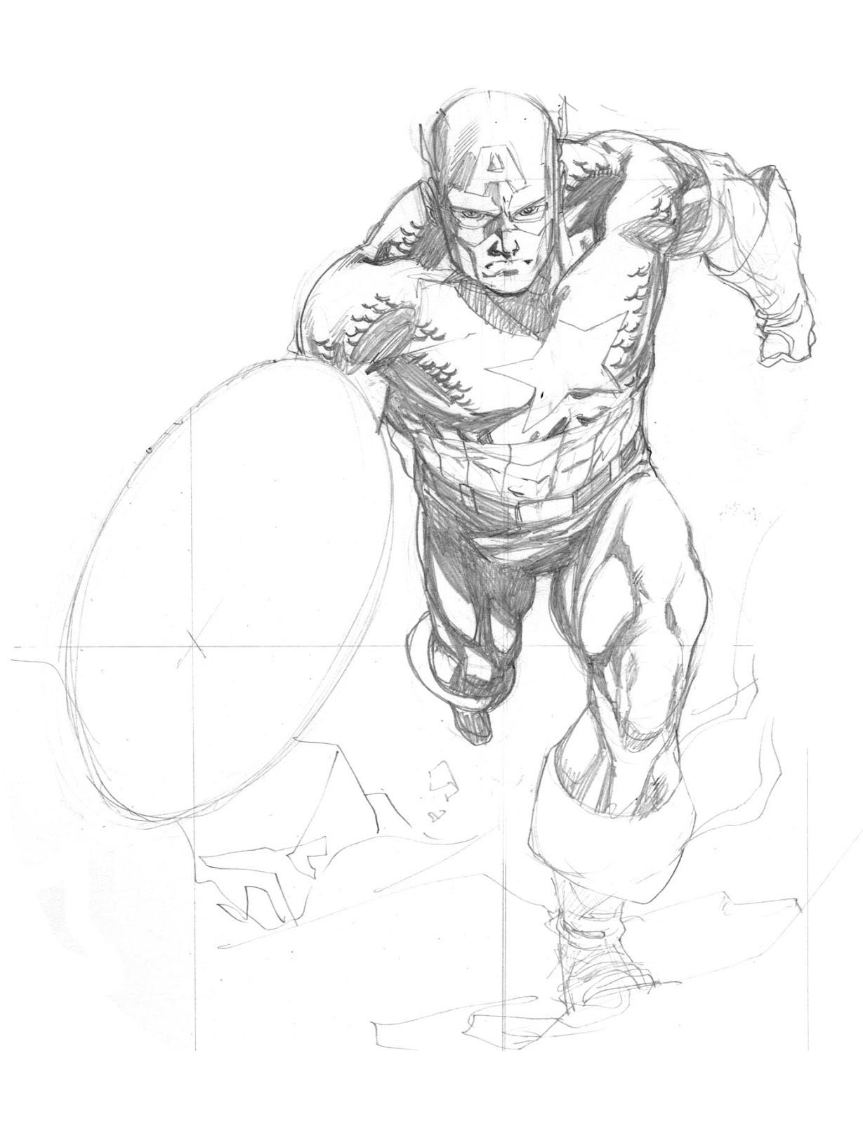1229x1600 Avengers April Captain America Robert Atkins Art