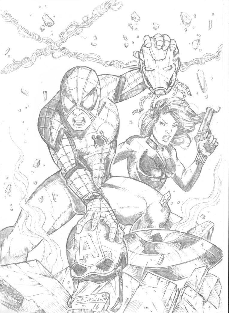 765x1044 Spiderman Civil War By Delanio