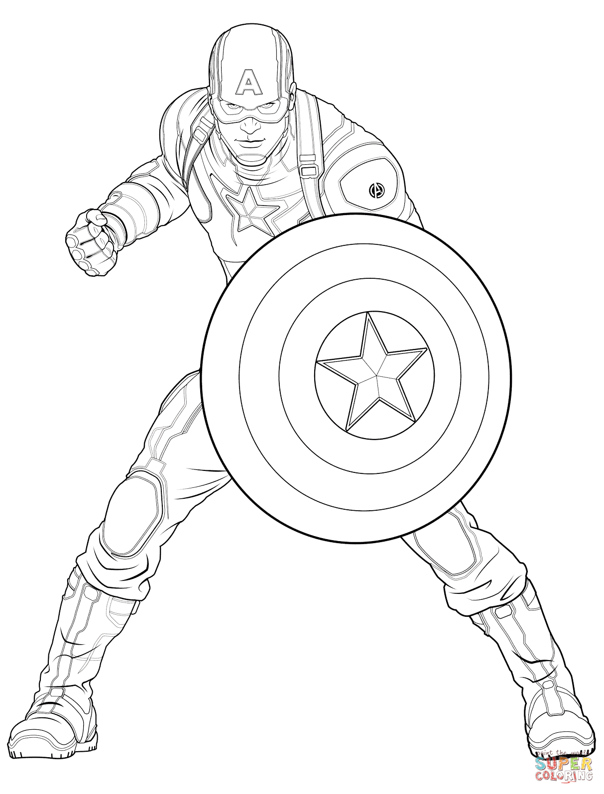 1213x1595 Avengers Captain America Coloring Page Free Printable Pages
