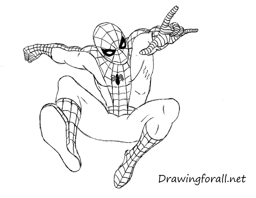 1000x774 How To Draw Spiderman Ez Screenshot Thumbnail. How To Draw