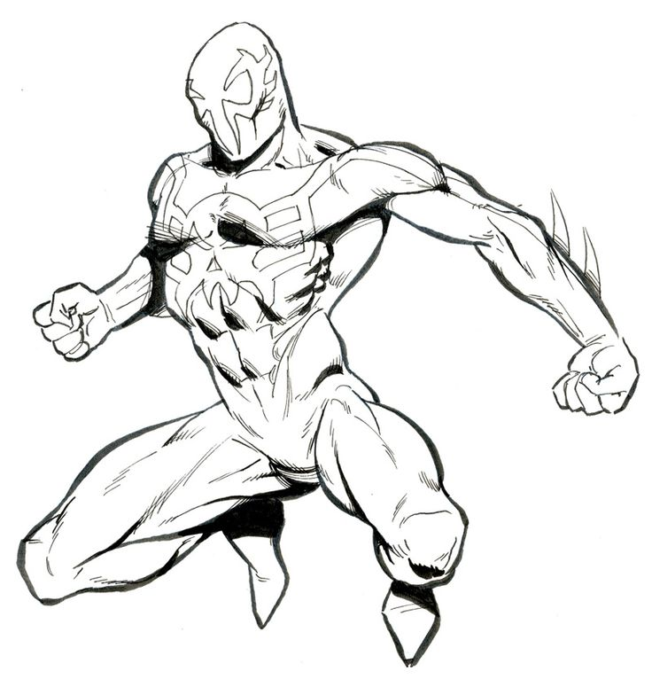 Spiderman Comic Drawing