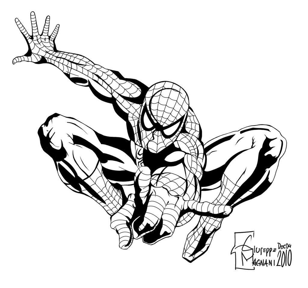 Spiderman Comic Drawing at GetDrawings
