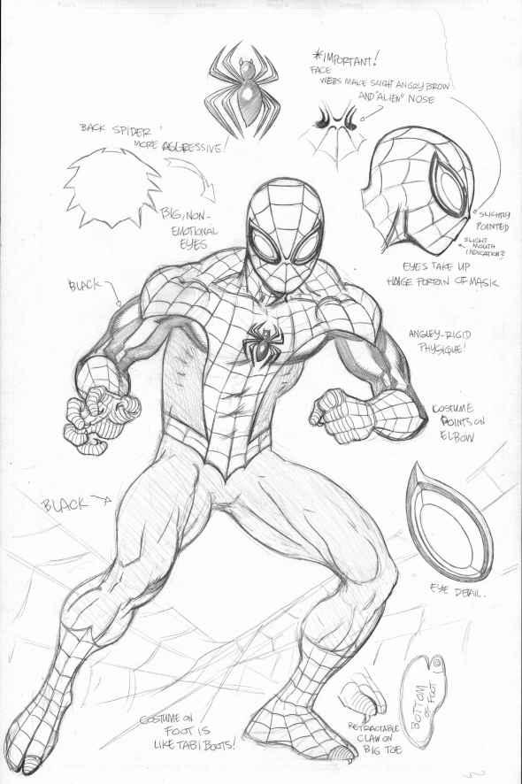 590x886 Superior Spider Man Suit Spider Man, Spider And Sketches