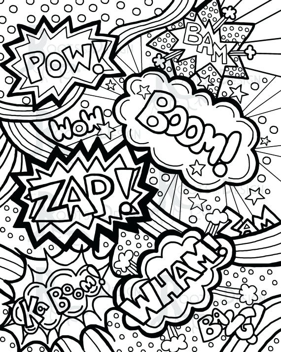 570x713 Comic Book Coloring Pages To Print Comic Book Coloring Pages