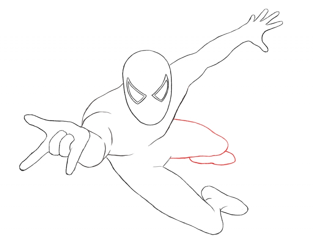 1024x778 How To Draw Spiderman How To Draw Spiderman Draw Central