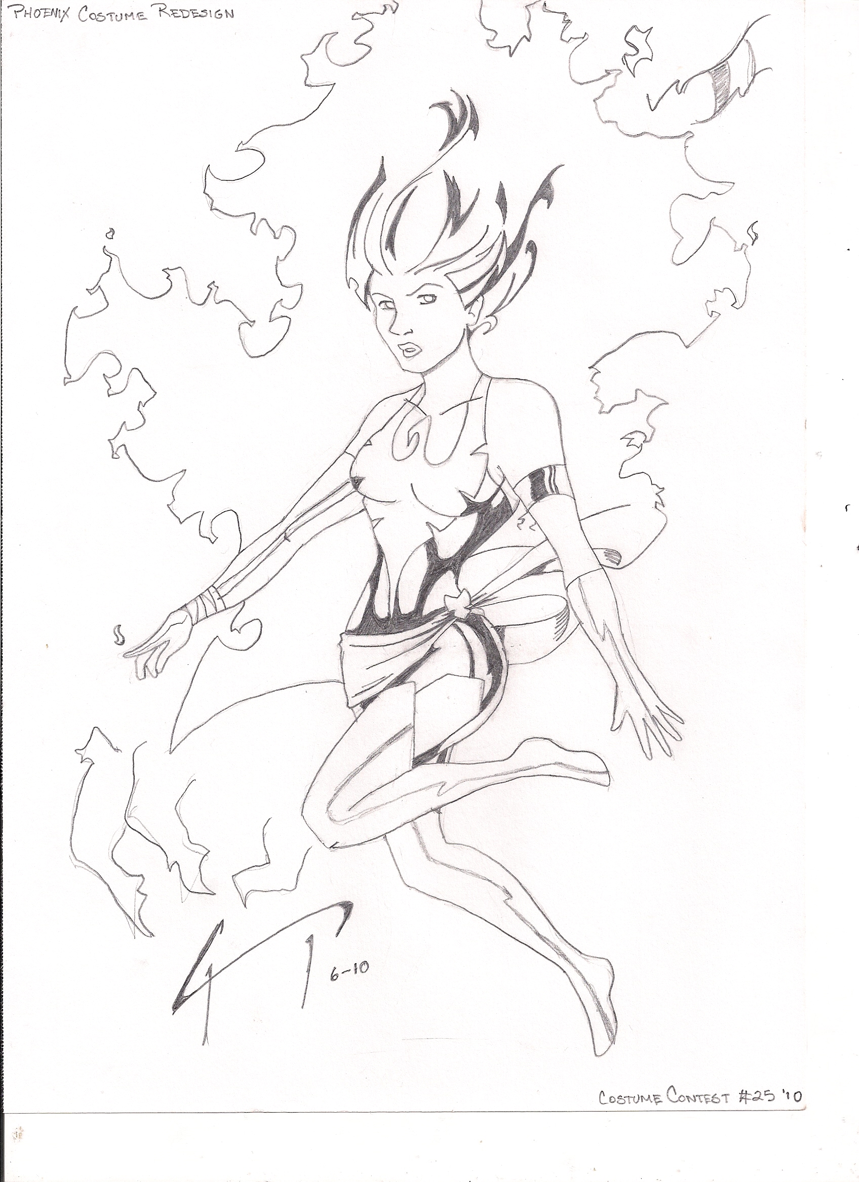 1696x2333 Recent Drawings Phoenix Costume Redesign
