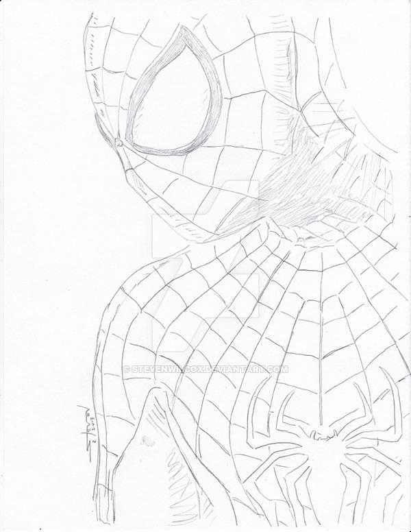 600x776 Amazing Spider Man Sketch By Stevenwilcox