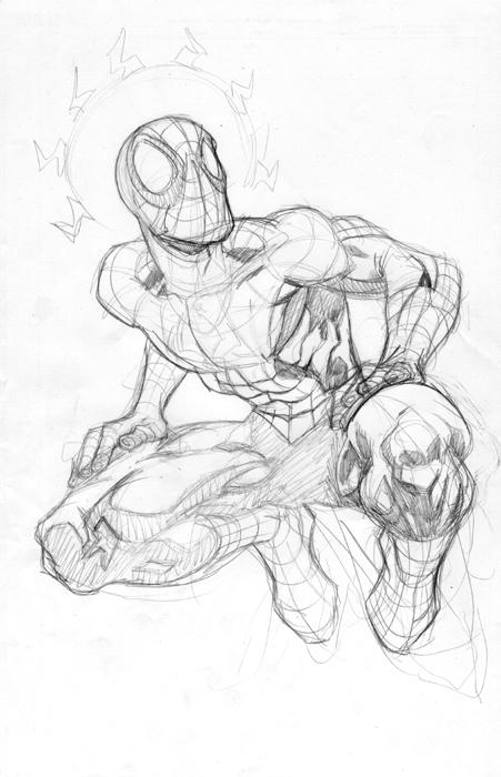 451x700 Spiderman Sketch By Bobbett